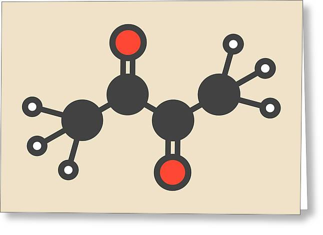 Butter Flavouring Molecule Greeting Card by Molekuul