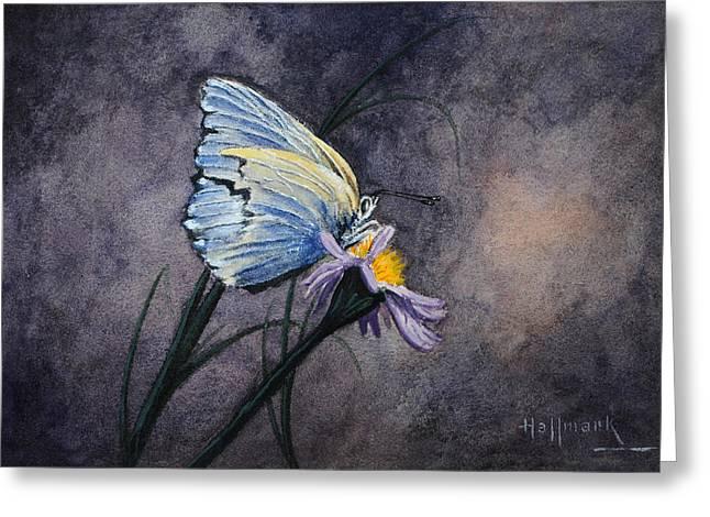 Butterfly Greeting Card by Bob Hallmark