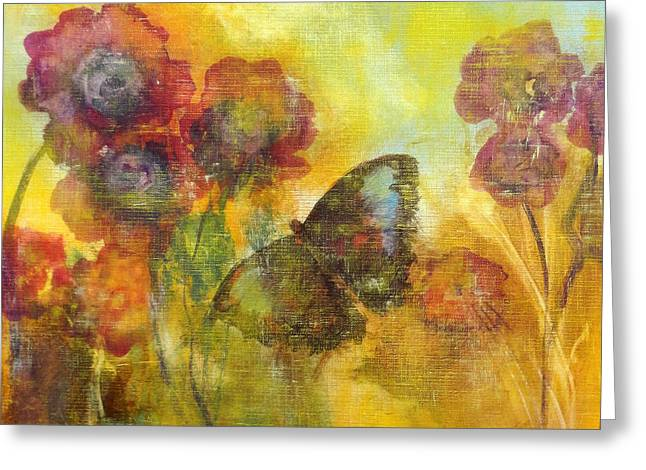 Quirky Paintings Greeting Cards - Butterfly Greeting Card by Katie Black
