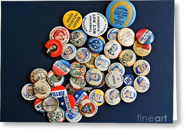 Tolerance Greeting Cards - Buttons Greeting Card by Gwyn Newcombe