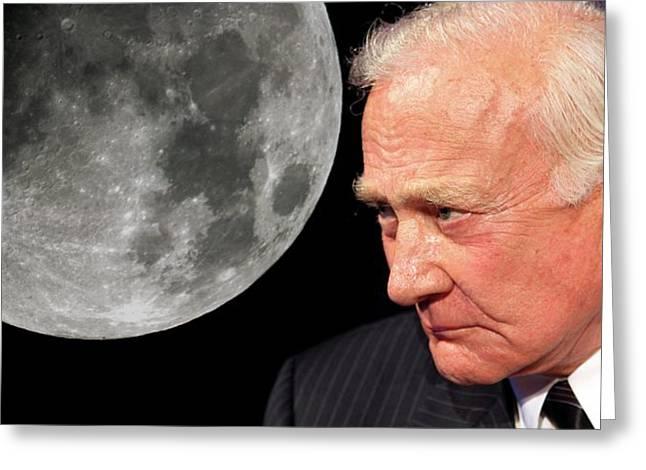 Buzz Aldrin Greeting Card by Detlev Van Ravenswaay