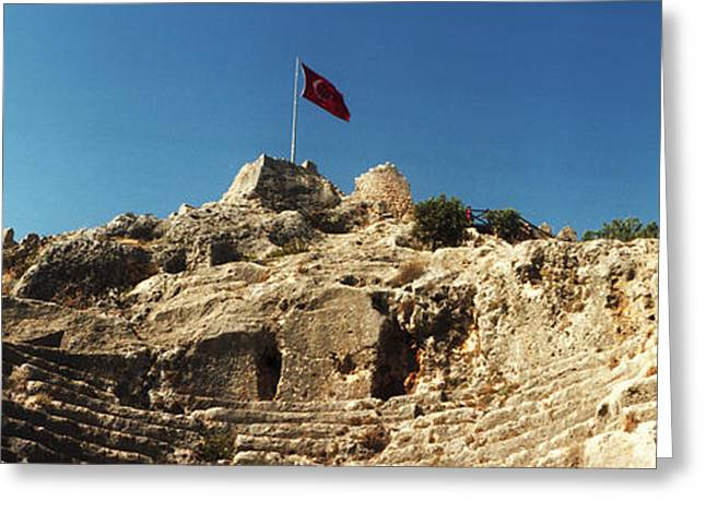 Byzantine Greeting Cards - Byzantine Castle Of Kalekoy Greeting Card by Panoramic Images