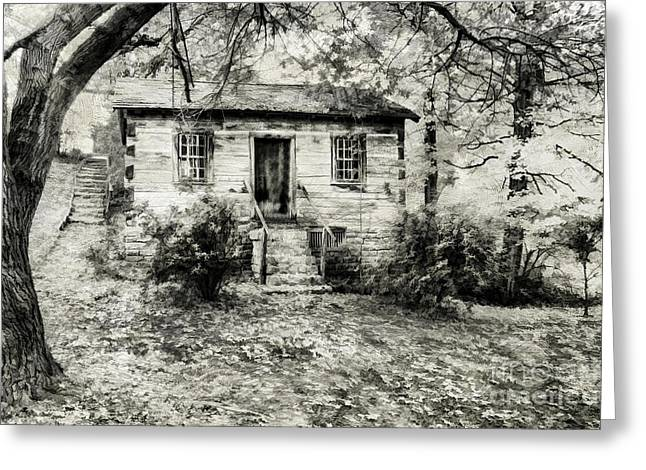 Old Cabins Photographs Greeting Cards - Cabin in the Woods Greeting Card by Darren Fisher