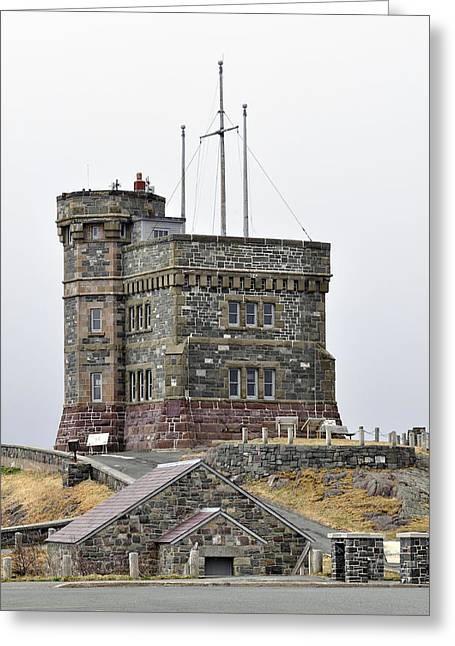Trans-atlantic Greeting Cards - Cabot Tower. Newfoundland. Greeting Card by Fernando Barozza