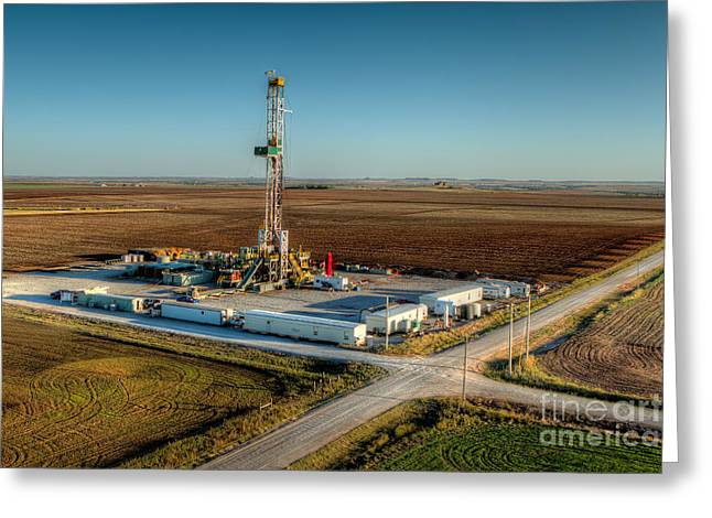 Oil Well Greeting Cards - Cac001-3 Greeting Card by Cooper Ross