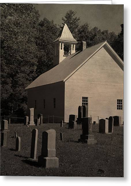 Gatlinburg Tennessee Greeting Cards - Cades Cove Primitive Baptist Church Greeting Card by Dan Sproul