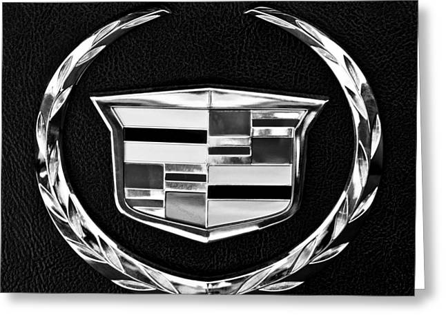 Old Car Greeting Cards - Cadillac Emblem Greeting Card by Jill Reger