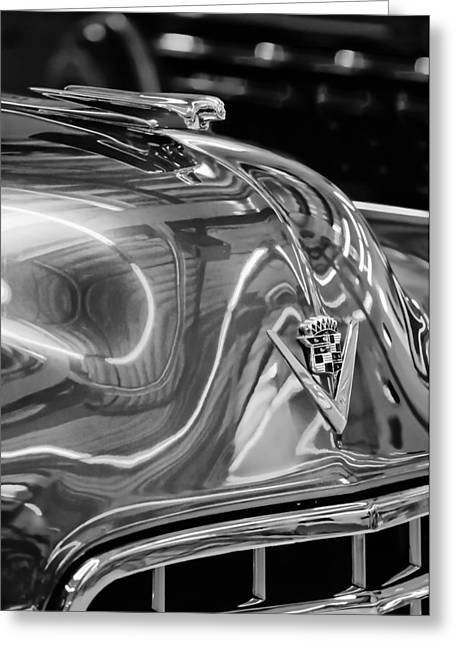 Cadillac Greeting Cards - Cadillac Hood Ornament - Emblem Greeting Card by Jill Reger