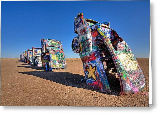 Cadillac Ranch Greeting Card by Peter Tellone