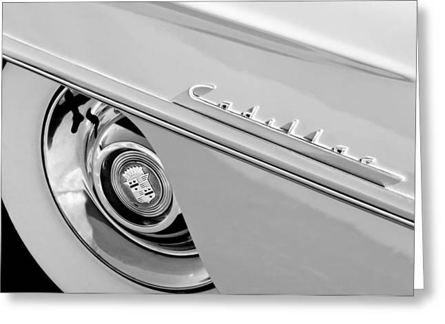 Cadillac Greeting Cards - Cadillac Wheel Emblem Greeting Card by Jill Reger