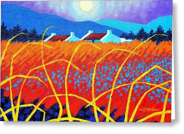 Field Framed Prints Greeting Cards - Cadmium Meadow Greeting Card by John  Nolan