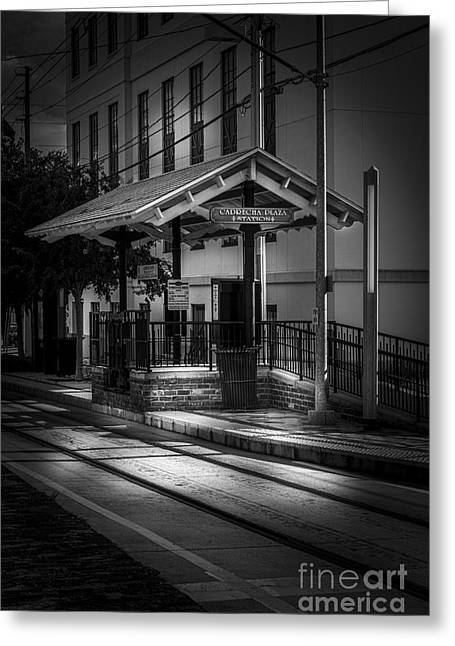 Brick Streets Greeting Cards - Cadrecha Plaza Station Greeting Card by Marvin Spates