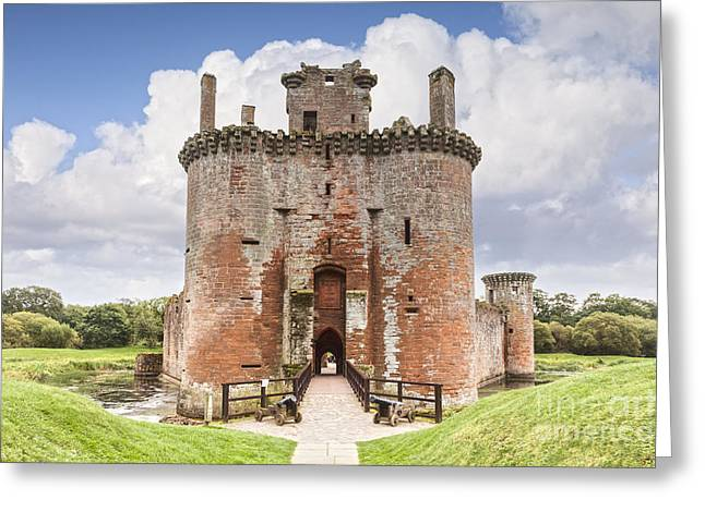 Moat Greeting Cards - Caerlaverock Castle Dumfries and Galloway Scotland Greeting Card by Colin and Linda McKie