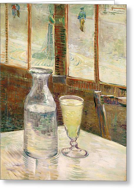 Cafe Table With Absinth  Greeting Card by Mountain Dreams