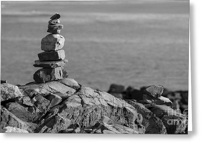 Cairn Greeting Card by Steven Ralser
