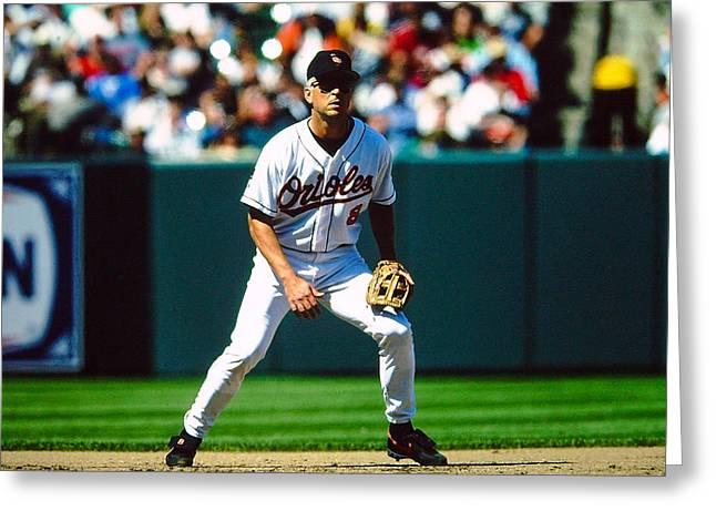 Cal Ripken Jr Greeting Cards - Cal Ripken Jr Greeting Card by Jerry Coli