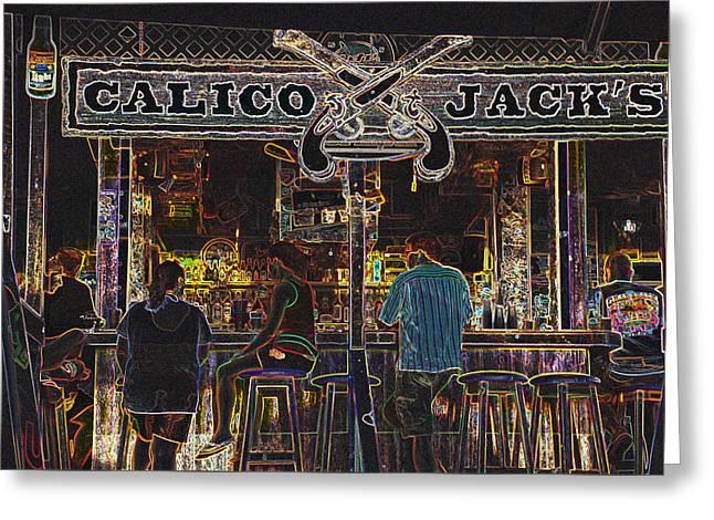 Calico Jacks Greeting Card by Dave Byrne
