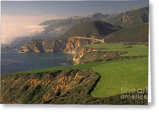 Bixby Bridge Greeting Cards - California Coast Greeting Card by Ron Sanford