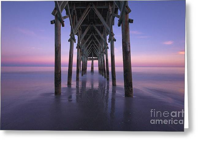 Ocean Art Photos Greeting Cards - Calm Evening Greeting Card by Matthew Trudeau