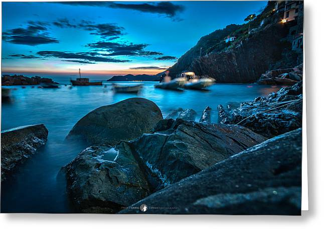 Italian Riveria Greeting Cards - Calm Too Greeting Card by Tyler Lindal