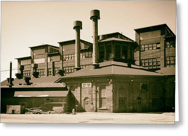 Cambria Greeting Cards - Cambria Iron Company - Johnstown Pennsylvania 1986 Greeting Card by Mountain Dreams