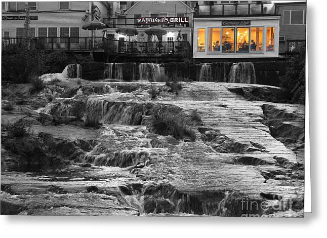 Deli Greeting Cards - Camden Maine Waterfalls Greeting Card by Jack Schultz