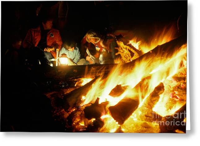 Fire Wood Greeting Cards - Campfire Greeting Card by Ron Sanford