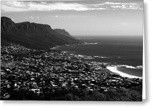 Cape Town Greeting Cards - Camps Bay Vista Greeting Card by Aidan Moran