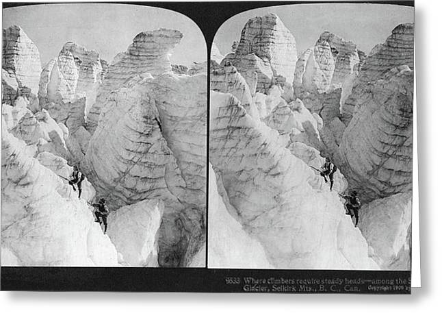 Canada Glacier Climbing Greeting Card by Granger