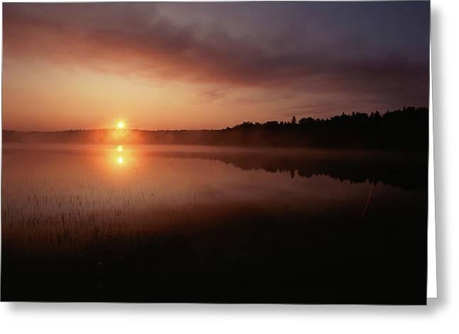 Canada, Ontario, Sudbury, Tilton Lake Greeting Card by Jaynes Gallery