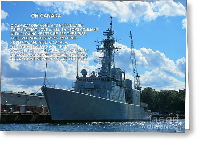 Halifax Photography Halifax Nova Scotia Greeting Cards - Canadian Navy Greeting Card by John Malone