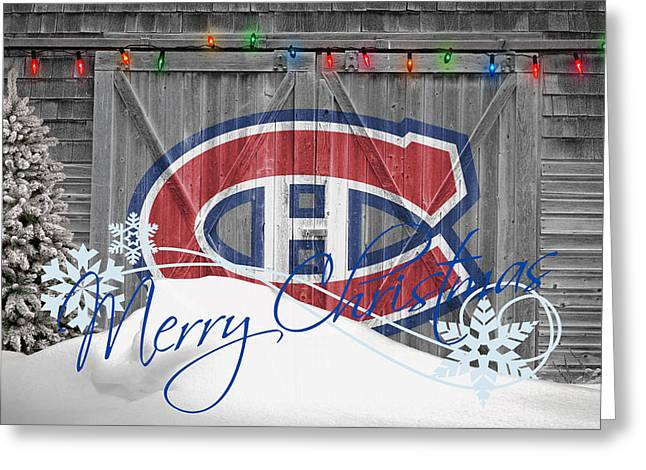 Canadiens Greeting Card by Joe Hamilton