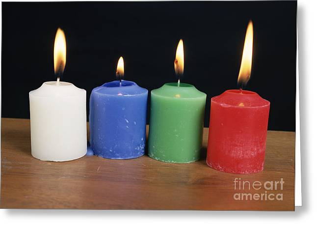 Absorb Greeting Cards - Candles Under White Light Greeting Card by Andrew Lambert Photography