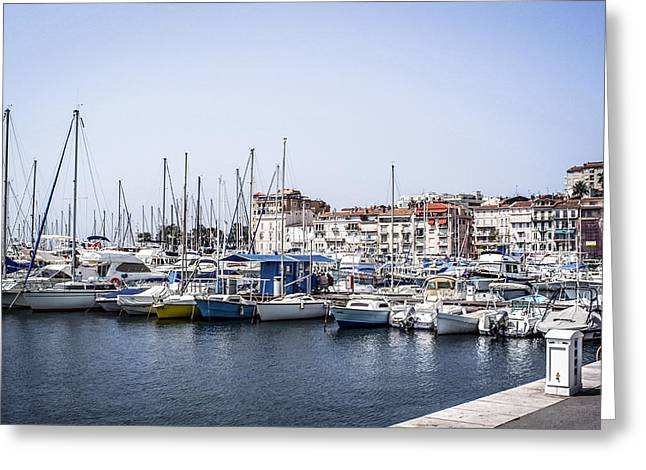 Pastimes Greeting Cards - Cannes Marina Greeting Card by Chris Smith
