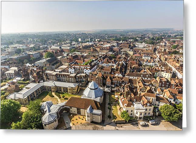 Historic England Greeting Cards - Canterbury View Greeting Card by Ian Hufton