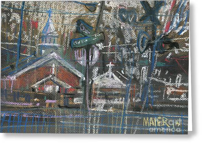 Railroad Crossing Greeting Cards - Canton at Sawyer Greeting Card by Donald Maier