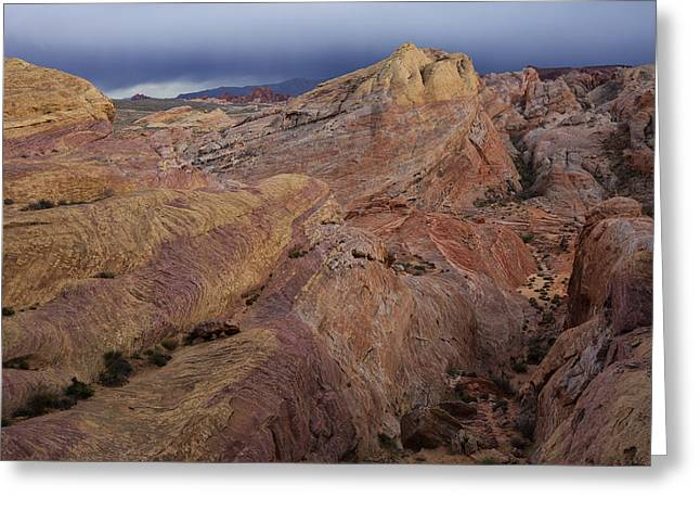 Valley Of Fire Nevada Greeting Cards - Canyon Glow Greeting Card by Rick Berk