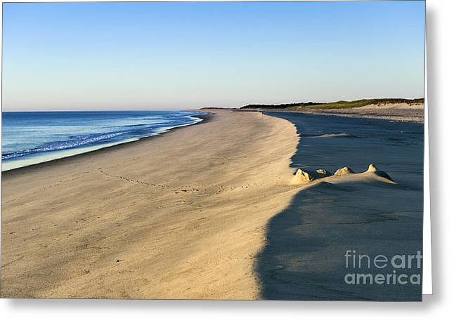 Sand Castles Greeting Cards - Cape Cod National seashore Greeting Card by John Greim