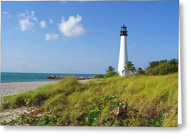 Cape Florida Lighthouse Greeting Card by Ellen Henneke
