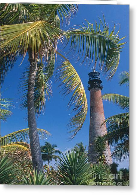Cape Florida Lighthouse, Fl Greeting Card by Bruce Roberts