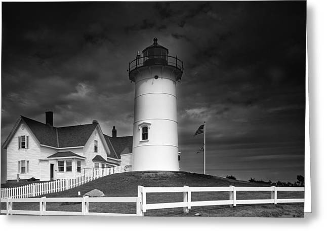 Cape Neddick Greeting Cards - Cape Neddick Light in Maine Greeting Card by Mountain Dreams