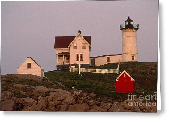 Cape Neddick Lighthouse Greeting Cards - Cape Neddick Lighthouse Greeting Card by Bruce Roberts