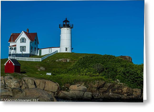 Cape Neddick Greeting Cards - Cape Neddick  Greeting Card by Rebecca D