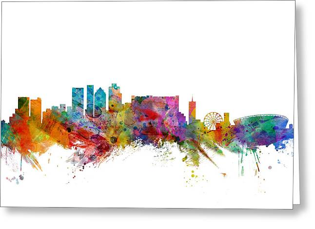 Cape Town Greeting Cards - Cape Town South Africa Skyline Greeting Card by Michael Tompsett