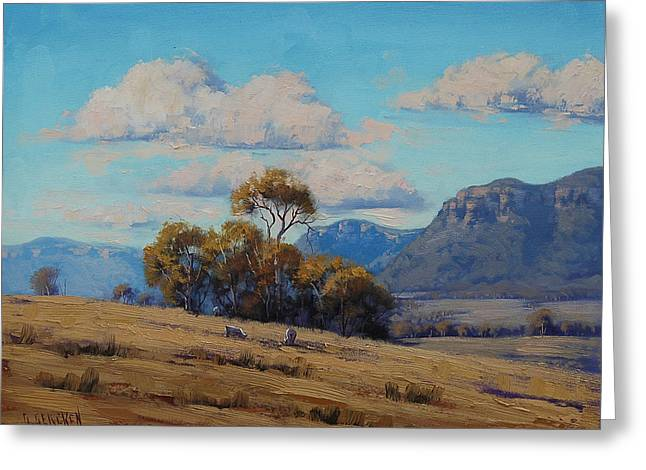 Rural Greeting Cards - Capertee Valley Australia Greeting Card by Graham Gercken