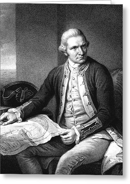 Captain James Cook Greeting Card by Collection Abecasis