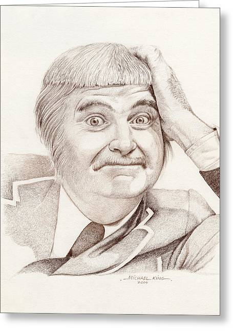 Kangaroo Drawings Greeting Cards - Captain Kangaroo Bob Keeshan Greeting Card by Michael King
