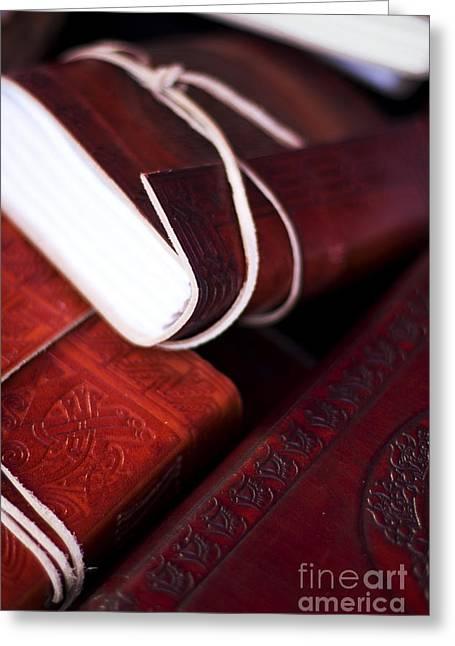 Ledger; Book Photographs Greeting Cards - Captains Log Books Greeting Card by Ryan Jorgensen