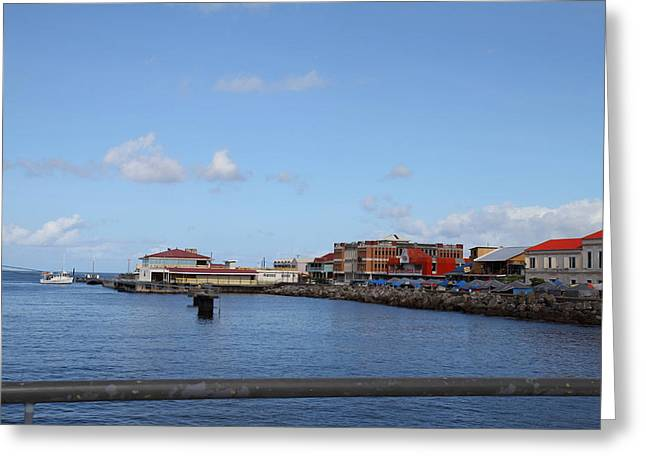 Ship Greeting Cards - Caribbean Cruise - Dominica - 12121 Greeting Card by DC Photographer