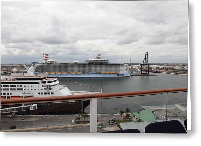 Caribbean Cruise - On Board Ship - 121214 Greeting Card by DC Photographer